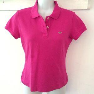 VINTAGE Lacoste Women's Slim Fit Short Sleeve Polo